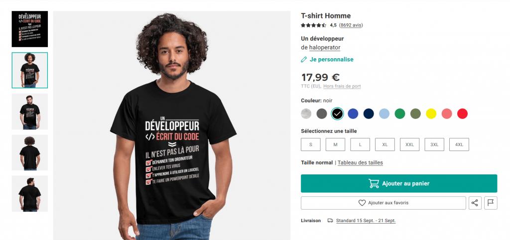 Le tee shirt marketing